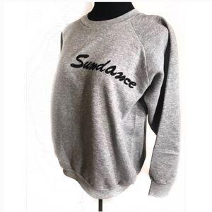 VINTAGE grey Sundance sweatshirt 80s embroidered